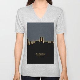 Bremen Germany Skyline Unisex V-Neck