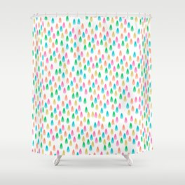 Glass Drops Shower Curtain