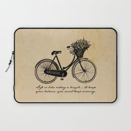 Albert Einstein - Life is Like Riding a Bicycle Laptop Sleeve