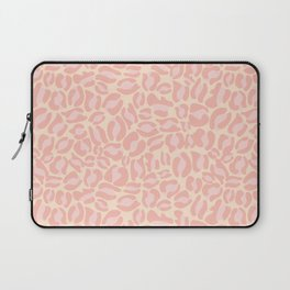 Leopard Print | Pastel Pink Girly Bedroom Cute | Cheetah texture pattern Laptop Sleeve