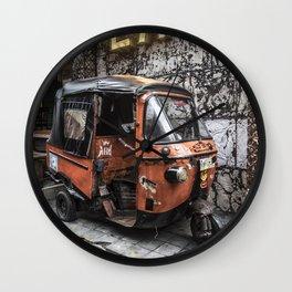 ORANGE TUK TUK Wall Clock