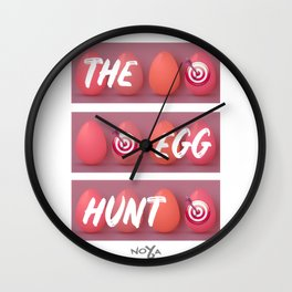The Egg Hunt Wall Clock