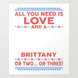 Brittany Ugly Christmas Sweater Art Print