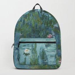 Monet, Water Lilies, Nympheas, Seerosen, 1915 Backpack