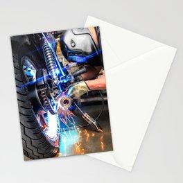 Garage Bike Work Stationery Cards