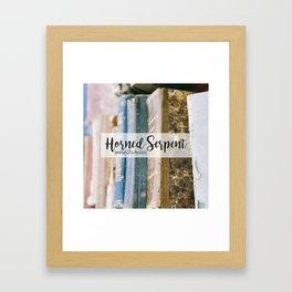 Horned Serpent Framed Art Print