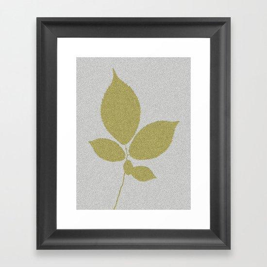 Vert et feuille d'or Framed Art Print
