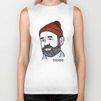 zissou Biker Tanks featuring Zissou by Daniel Feldt