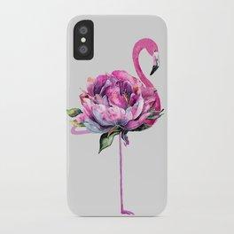 Flower Flamingo iPhone Case