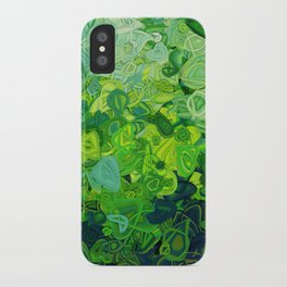 Composition #82 (shades of green) iPhone Case