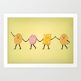 Lunchables - Best Friends Art Print