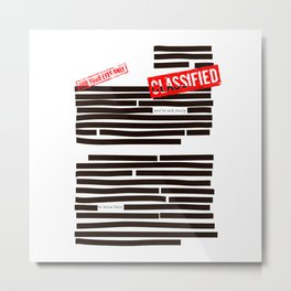Censored text (Classified information) Metal Print