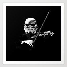 Dark Violinist Warrior Art Print