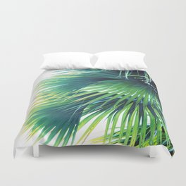 Bright Palm Duvet Cover