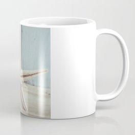 Pale Starfish on Blue Coffee Mug