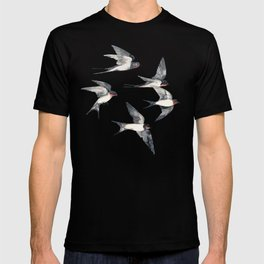 Blue Sky Swallow Flight T-shirt