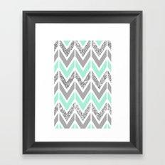 sparkle blue navajo Framed Art Print