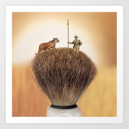 Shaving Brush Savanna Art Print