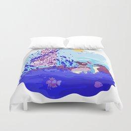 Tiny Worlds - Cinnabar Island Duvet Cover