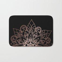Tiara Mandala Black Bath Mat