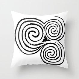 Newgrange Celtic Spiral Throw Pillow