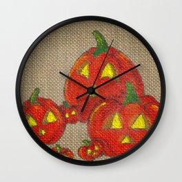 Lantern Patch Wall Clock