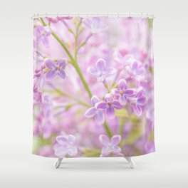 Lilac Flowers Mist Shower Curtain