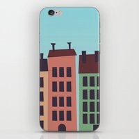 buildings iPhone & iPod Skins featuring Buildings by Frostwindz