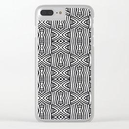 B&W #1, Interlacing pattern Clear iPhone Case