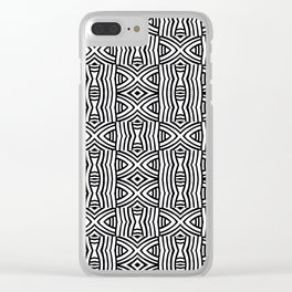 B&W #1, Interlacing pattern Clear iPhone Case