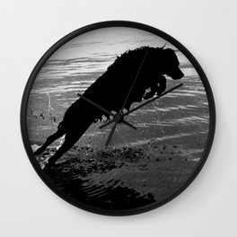 Dog Jump Wall Clock
