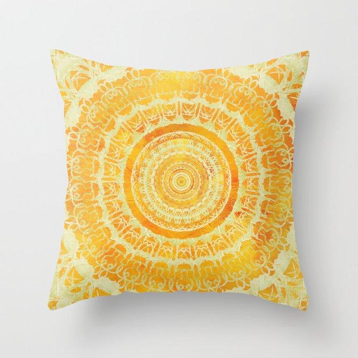 Sun Mandala 4 Throw Pillow