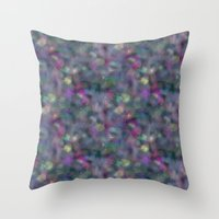 holographic Throw Pillows featuring Dark holographic by ravynka