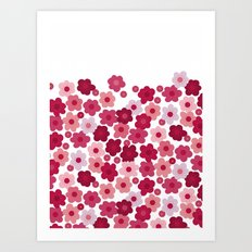 cherry blossom pop white Art Print