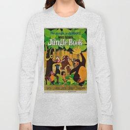 1961 Jungle Book Original US Film Movie Poster Long Sleeve T-shirt