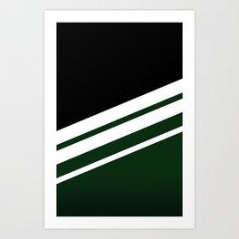 Black Striped Forest Art Print
