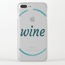 Wine Clear iPhone Case