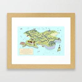 Eagle Island Maze Framed Art Print