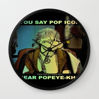 popeye Wall Clocks featuring POP ICON / POPEYE-KHAN 025 by Lazy Bones Studios