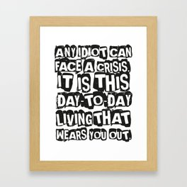 day2day Framed Art Print