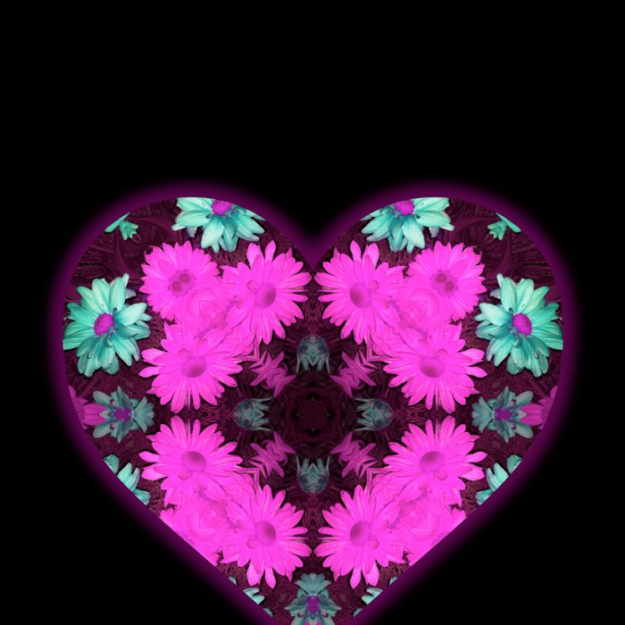 Mandala Flower Love Heart Leggings