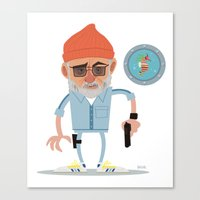 zissou Canvas Prints featuring Zissou by The Drawbridge