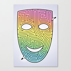 Mask Maze Canvas Print