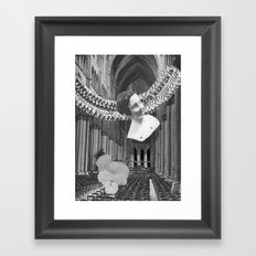 late night bleed through Framed Art Print