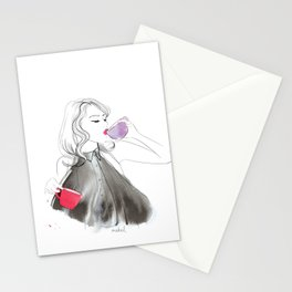 Two coffee day Stationery Cards