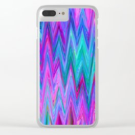 Holographic Mountains Clear iPhone Case