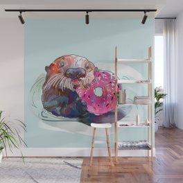 Otter Donut Wall Mural