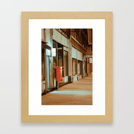 Main Street in Missouri Framed Art Print