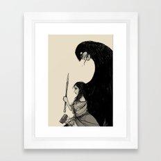 Huntress Sketch Framed Art Print