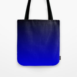 Black and Cobalt Gradient Tote Bag